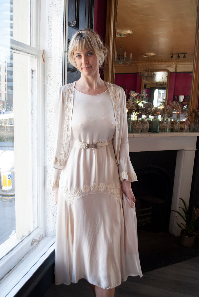 1930's Silk Satin Bridal Set