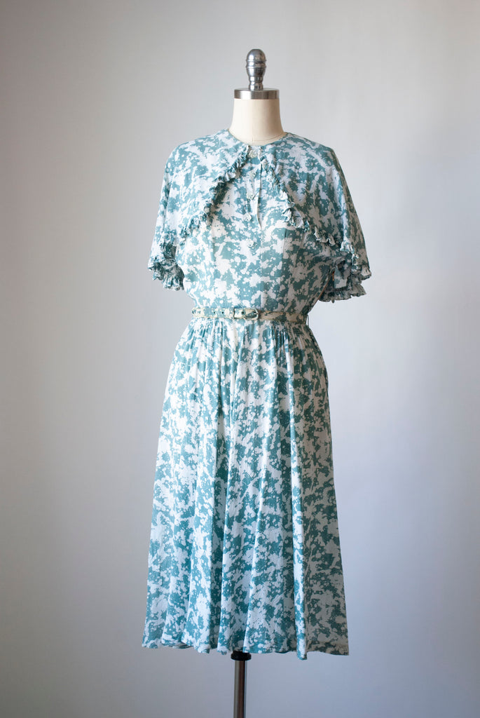 1940's Silk Chiffon Dress