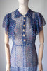 1940's Chiffon Day Dress