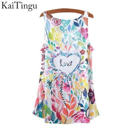 2015 New Fashion Vintage Spring Summer Women Sleeveless Print Love Printedmodkily-modkily