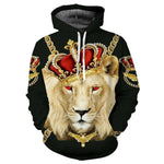 Mr.1991INC Lion King Hoodies Men Women Unisex Sweatshirts 3d Print Colorful Blocksmodkily-modkily