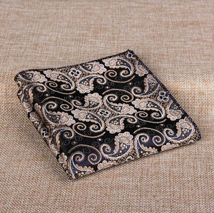 11 Styles Fashion Men's Cotton Pocket Square Western Style Floral Handkerchief formodkily-modkily