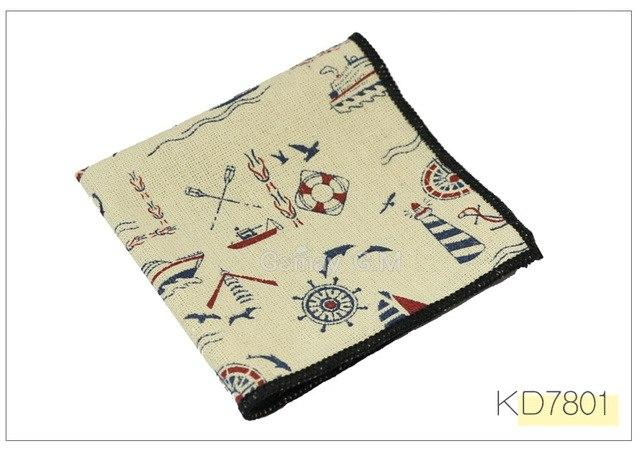 High Quality Hankerchief Scarves Vintage Linen Hankies Men's Pocket Square Handkerchiefs Printmodkily-modkily