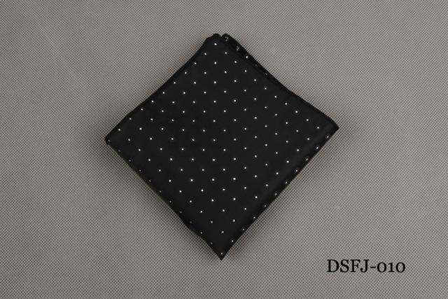 Polka Dots Striped Handkerchief Wedding Polyester Printed Hanky Men's Fashion Businessmodkily-modkily