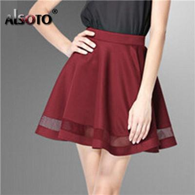 Fashion Grid Design women skirt elastic faldas ladies midi skirt Sexymodkily-modkily