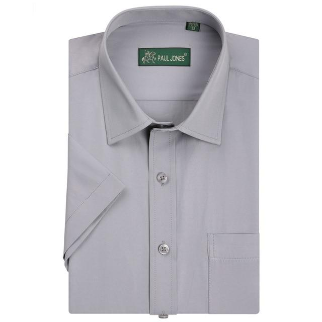 Summer Fashion Short Sleeve Mens Shirts Casual Business Formal Male Shirts camisamodkily-modkily