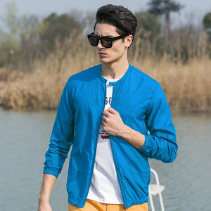 Summer sun protection clothing men jacket ultra light breathable waterproof Jacketmodkily-modkily
