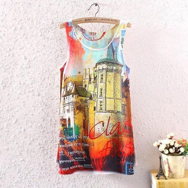 2016 Brand New Fashion Summer Women Girl Sleeveless Digital Graphic Zebramodkily-modkily