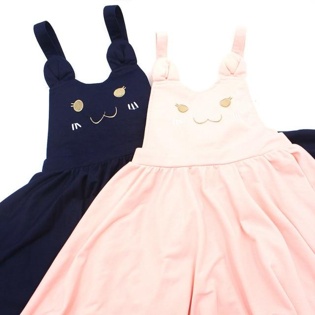 Japanese Lolita Summer Autumn Women Suspender Skirt Cat Embroidery Hollow Outmodkily-modkily