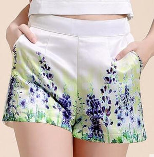 2016 Brand Designer Women Summer Casual Shorts High Waist Floral Printed shortmodkily-modkily