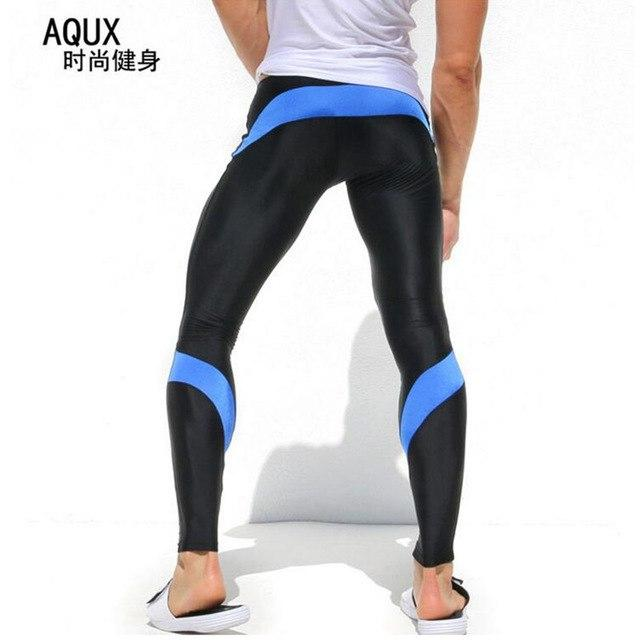Mens Joggers Sexy Tight Pants Men Compression Pants Ankle Length Pants Malemodkily-modkily