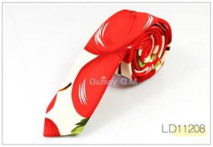 High Quality Newest Print Cotton and Linen Ties for Men Fashion Classicmodkily-modkily