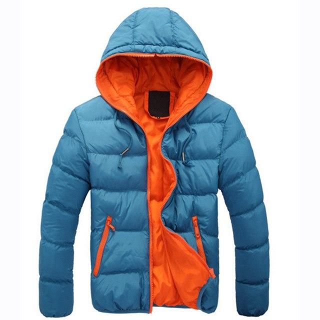 2017 New Fashion Men's Winter Warm Jacket Hooded Slim Casual Coat Cotton-paddedmodkily-modkily