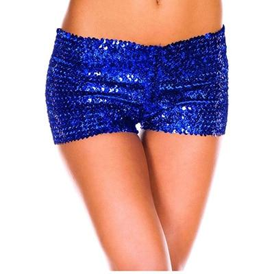 7 Colors S-2XL Women Sexy Sequins Shorts Low Waist Plus Size Slimmodkily-modkily