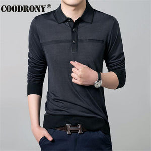 Free Shipping Autumn New Casual Long Sleeve Business Shirt Turn-down Collar Sweatermodkily-modkily
