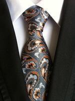 Men's Ties for Suits Paisley Neck Ties Polyester Plaid Necktie Floralmodkily-modkily