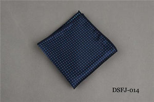 Striped Dot Mens Handkerchiefs Brand Classic Polyester Pocket Towel Hanky Formalmodkily-modkily