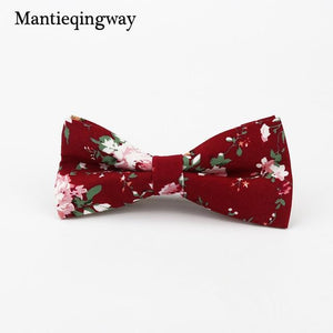 Men's Cotton Floral Bowtie Brand Popular Apparel Neckwear Casual Mens Businessmodkily-modkily