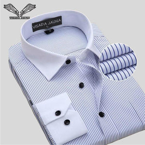 Business Men's Shirts Men Shirt Long Sleeve Camisa Social Masculina Cottonmodkily-modkily