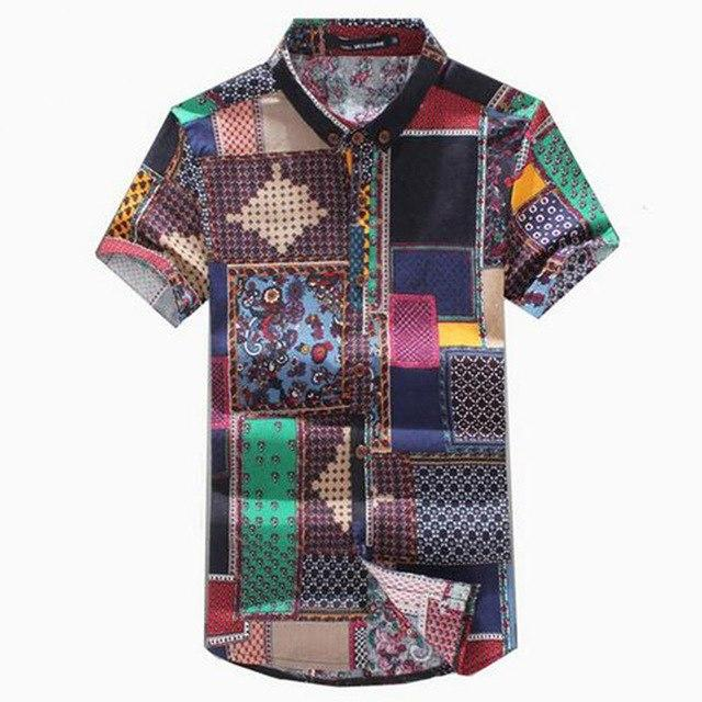 New 2017 Summer Men's fashion leisure Linen short sleeve shirt/Male lapel casualmodkily-modkily
