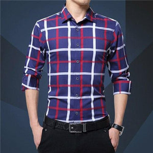 2017 New Arrival Plaid Men Shirt Male Casual Business Brand Clothingmodkily-modkily