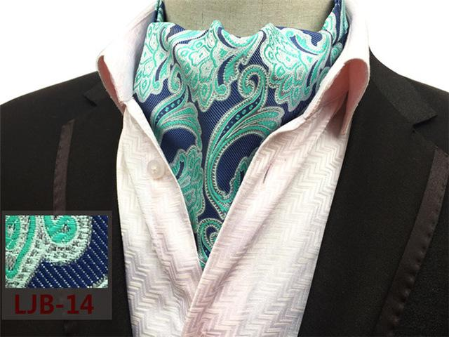 New Brand Silk Men's Blue Solid Color Mens Cravats Novelty Weddingmodkily-modkily