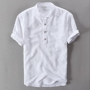 2017 Summer Short Sleeve Shirt Men Linen Clothing Fashion Cotton Men Shirtsmodkily-modkily