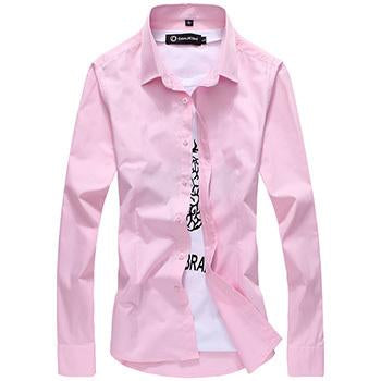 NEW commercial casual Men shirt Long sleeve shirt 30%-49% cotton Solid colormodkily-modkily