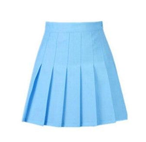 summer American School Style Fashion Women elegant half Pleated mini Skirts highmodkily-modkily