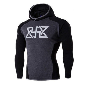 2017 New Hoodies Men Compression Hooded Hoodie Sweatshirts Bodybuilding Fitness Man Clothesmodkily-modkily