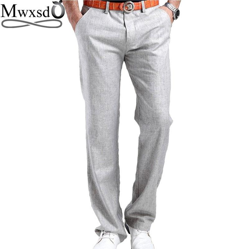 brand high quality summer Men's Linen cotton Pants men Casual breathingmodkily-modkily