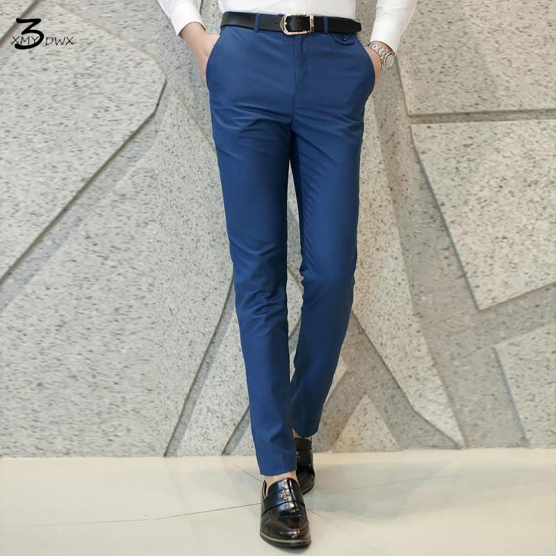 fashion men Pure color business Suit pants/Male high-end High quality leisuremodkily-modkily