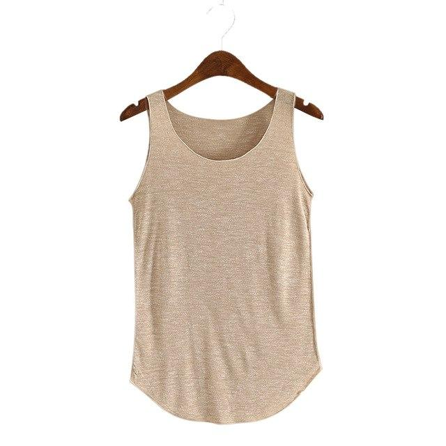 Fashion Women Summer Fitness Tank Top Loose Cotton O-neck Slim Elasticmodkily-modkily