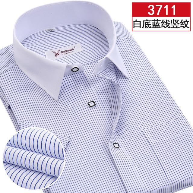 2017 New Arrival Brand Short Sleeve Shirt Men Plus Size Striped Shirtmodkily-modkily