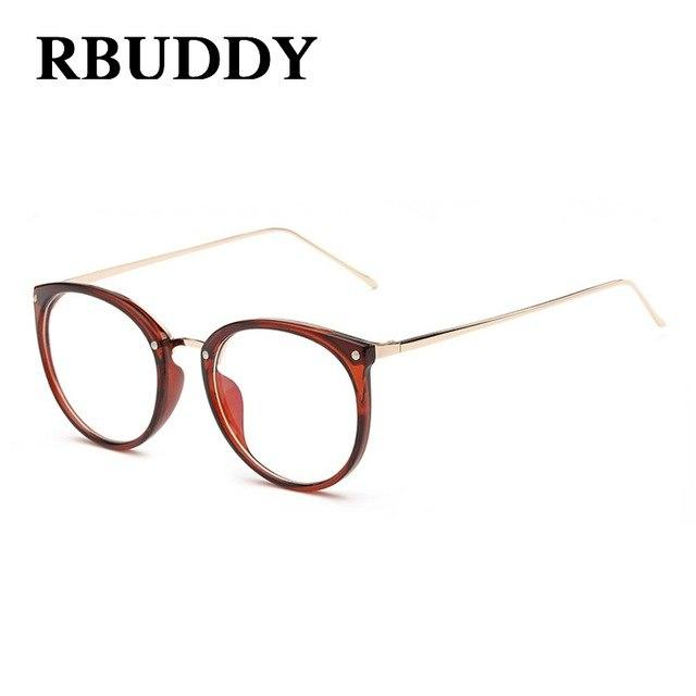 Fashion Clear Lens Round Glasses Transparent Frame Women Gold Eyewear Framemodkily-modkily
