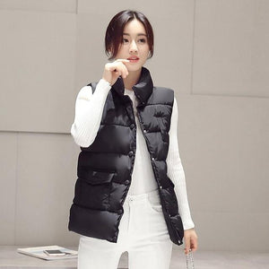 New 2017 autumn and winter women cotton vest white duck down softmodkily-modkily