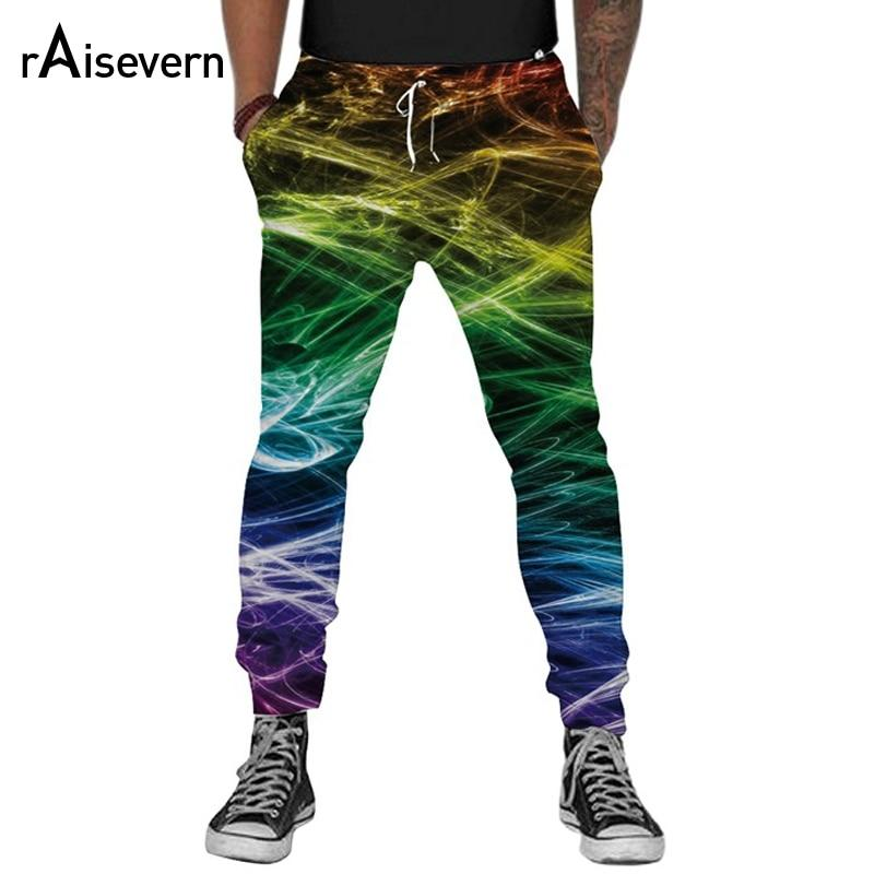 Raisevern New Fashion Men Harem Pants 3D Graphic Print Full Length Leisuremodkily-modkily