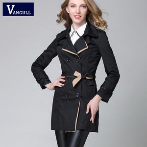 2017 NEW Fashion Windbreaker Women Spring Autumn Jacket Large Sizes Outerwear Parkamodkily-modkily