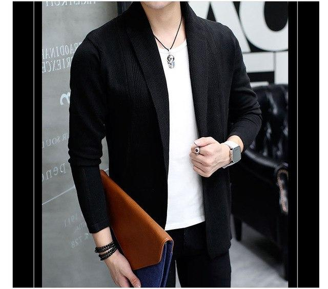 brand Men casual slim fit Cardigan thin Jacket and coat Nomodkily-modkily