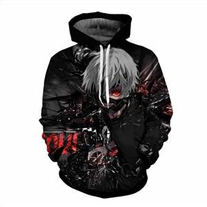 Classic anime Tokyo Ghoul 3d Hoodies 2017 Autumn New Fashion Hoodie Tokyomodkily-modkily