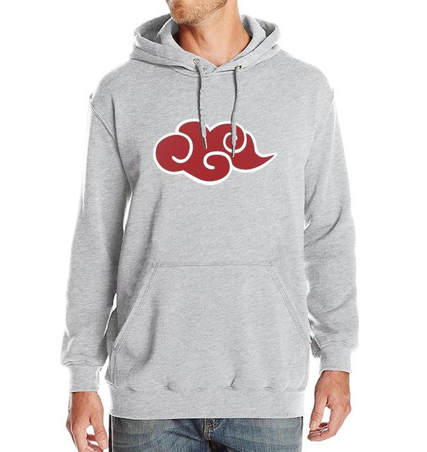 New Hoodie Men Japan Anime Naruto Akatsuki Red Cloud 2017 Hot Salemodkily-modkily