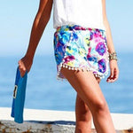 Women High Waist Floral Short Girl Casual Shorts Printed Short Summer Shortsmodkily-modkily