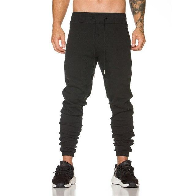 Men full sportswear Pants Casual Elastic cotton Mens Fitness Workout Pantsmodkily-modkily