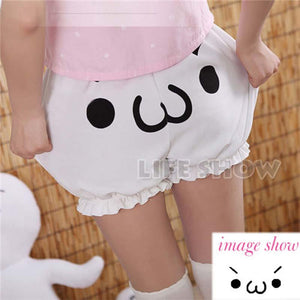 2017 Summer Women Cute Short Pants Pumpkin Bloomers Anime White Shorts Formodkily-modkily