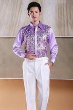 Men's Fashion Stage Show Purple Silver Piece Pink Yellow And Bluemodkily-modkily