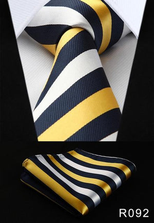"Pocket Square Classic Party Wedding Men's Fashion stripe 3.4""Silk Woven Wedding Menmodkily-modkily"