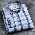 Langmeng new 2017 autumn spring mens plaid casual shirts long sleeve 100%modkily-modkily