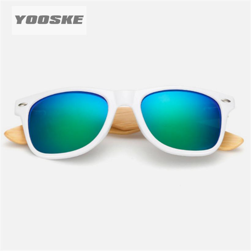 YOOSKE Vintage Bamboo Wood Sunglasses Mens Retro Wood Legs Sun glasses Menmodkily-modkily
