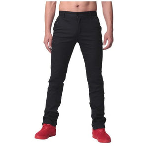 High Quality Autumn Mens Casual Business Work Pants Soft Cotton Slim chinosmodkily-modkily