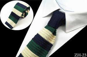 Mens Knitt Ties 5.5cm Fashion Slim Knitted Tie For Men Accessoriesmodkily-modkily